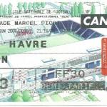 Billet Nancy-Le Havre - Saison 2000-2001 - D2 (16e j, 21 10 2000)