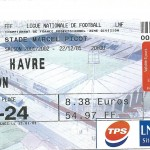 Billet Nancy-Le Havre - Saison 2001-2002 – L2 (21e j, 02 03 2002)