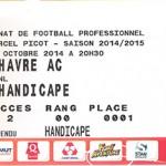 Billet Nancy- Le Havre - Saison 2014-2015 - L2 (12e j 27 10 2014)