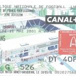 Billet Nancy-Le Mans - Saison 2000-2001 - D2 (37e j, 11 05 2001)