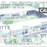Billet Nancy-Lorient - Saison 2000-2001 - D2 (35e j, 13 04 2001)