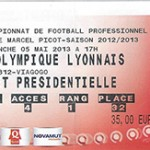 Billet Nancy -  Lyon - saison 2012-2013 - L1 (j°35 - 05;05;2013)