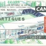 Billet Nancy-Martigues - Saison 2000-2001 - D2 (10e j, 15 09 2000)