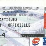 Billet Nancy-Martigues - Saison 2001-2002 – L2 (23e j, 30 03 2002)