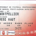 Billet Nancy -  Montpellier - saison 2012-2013 - L1 ( j. 07 - 29;09;2012)