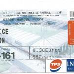 Billet Nancy-Nice - Saison 2001-2002 – L2 (06e j, 29 08 2001)