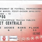 Billet Nancy -  Paris - saison 2012-2013 - L1 ( j°10 - 27;10;2012)