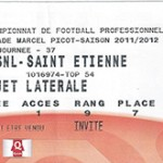 Billet Nancy -  Saint Etienne - saison 2011-2012 - L1 ( j°37 - 13;05;2012)