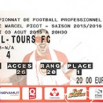 Billet Nancy Tours Saison 2015-2016 L2 1ej 03-08-2015