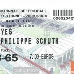 Billet Nancy-Troyes - Saison 2003-2004 – L2 (11e j, 04 10 2003)