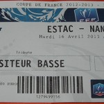 Billet Troyes Nancy Coupe de France 2012 2013 Quart de finale