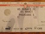 Billet championnat Monaco Nancy saison 2006 2007