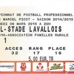 Billet championnat domicile Nancy Lavalt Saison 2014 2015 (06-03-2015)