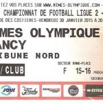 Billet extérieur championnat Nimes Nancy 2014 2015 (30-01-2015)