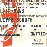Billet saison 2008 2009 - Asnl.Le Mans 07-03-2009 Collection Cedric N