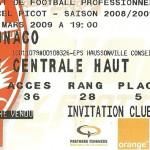 Billet saison 2008 2009 - Asnl.Monaco 21-03-2009 Collection Cedric N