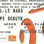 Billet saison 2009 2010 - Asnl.Le Mans 05-05-2010 Collection Cedric N