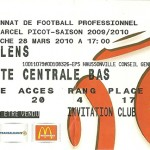 Billet saison 2009 2010 - Asnl.Lens 28-03-2010 Collection Cedric N