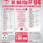 Feuille de match saison 2014-2015 Journée n°04 Sochaux