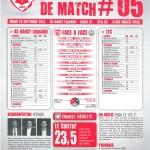 Feuille de match saison 2014-2015 Journée n°05 Tours