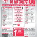 Feuille de match saison 2014-2015 Journée n°06 Ajaccio