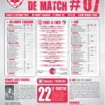 Feuille de match saison 2014-2015 Journée n°07 Le Havre