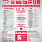 Feuille de match saison 2014-2015 Journée n°08 Créteil