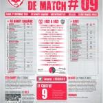 Feuille de match saison 2014-2015 Journée n°09 Valenciennes