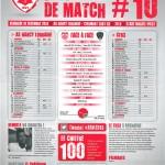 Feuille de match saison 2014-2015 Journée n°10 Clermont