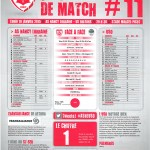 Feuille de match saison 2014-2015 Journée n°11 Orléans