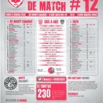 Feuille de match saison 2014-2015 Journée n°12 Brest