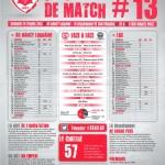Feuille de match saison 2014-2015 Journée n°13 Chateauroux