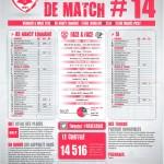 Feuille de match saison 2014-2015 Journée n°14 Laval