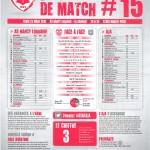 Feuille de match saison 2014-2015 Journée n°15 Auxerre