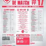 Feuille de match saison 2014-2015 Journée n°17 Troyes
