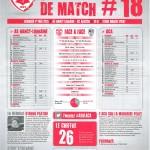 Feuille de match saison 2014-2015 Journée n°18 Ajaccio ACA