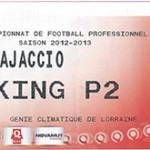 Parking Ajaccio - saison 2012 2013
