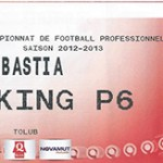 Parking Bastia - saison 2012 2013