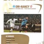 Programme Marseille Nancy (bis) saison 2008 2009 (21;12;08)
