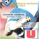 Programme Niort Nancy saison 2002 2003 (17e j ; 30;11;02)