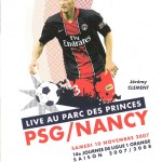 Programme Paris Nancy saison 2007 2008 (14e j ; 10;11;07)