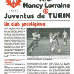 Programme saison 1979 1980 Nancy - Juventus de Turin - match amical 08 09 1979