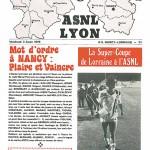 Programme saison 1979 1980 Nancy - Lyon  - saison 03 08 1979
