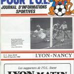 Programme saison 1982 1983 - Lyon Nancy 21-09-1982