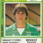 Programme saison 1983 1984 - Saint Etienne Nancy 24-03-1984