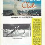 Programme saison 1986 1987 Le Havre Nancy 04 10 1986