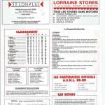 Programme saison 1988 1989 j 17 Nancy Le Touquet