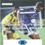 Programme saison 1999 2000 - Troyes Nancy 25-09-1999