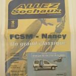 Programme saison 2000 2001 - Sochaux Nancy 21-03-2001