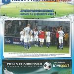 Programme saison 2008 2009 - Auxerre Nancy 13-09-2008